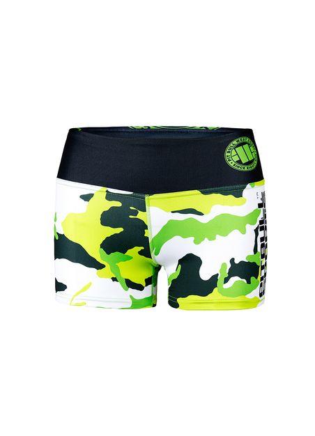 Spodenki damskie Fitness Camo 1 Green