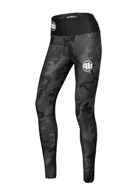 Legginsy sportowe damskie All Black Camo